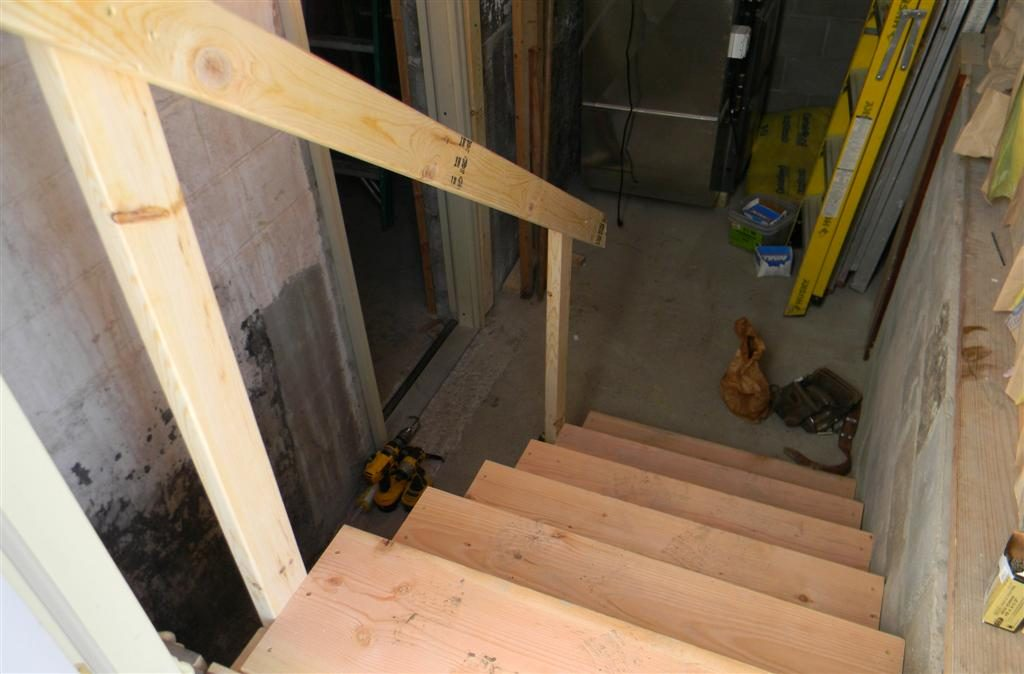 New basement stairs